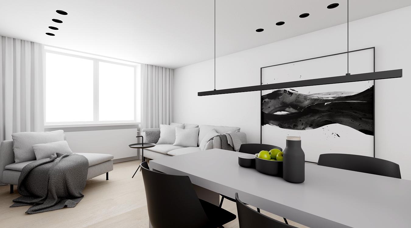 Projekt wnętrz apartamentu w Sztokholmie