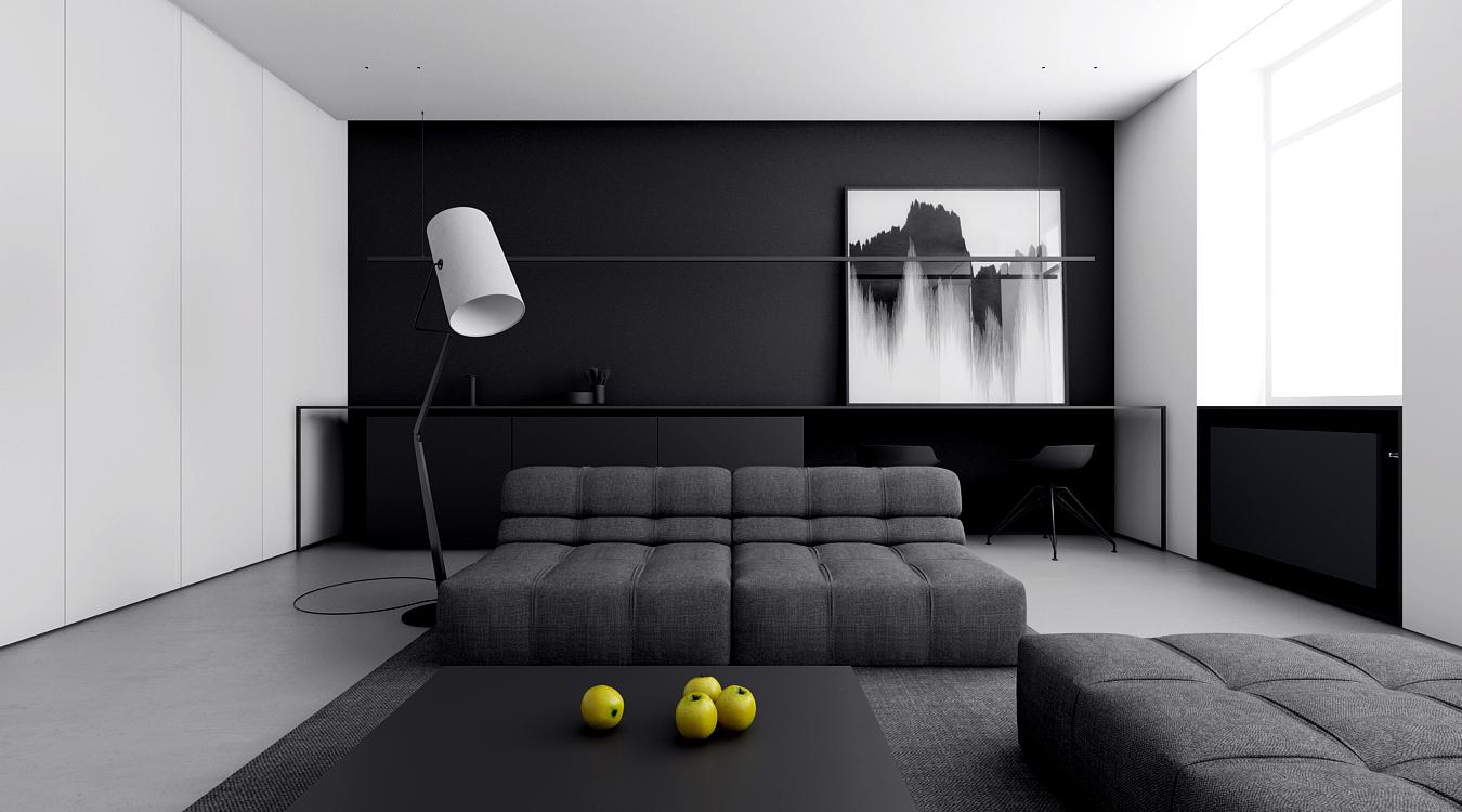 Projekt wnętrz mieszkania w Łodzi