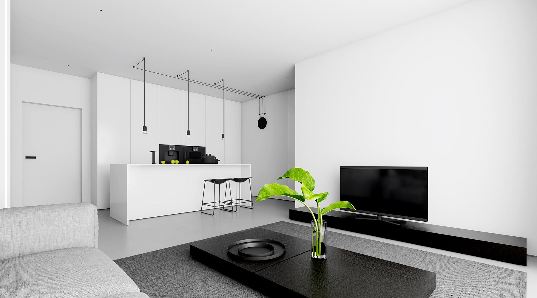 Projekt wnętrz apartamentu, Łódź